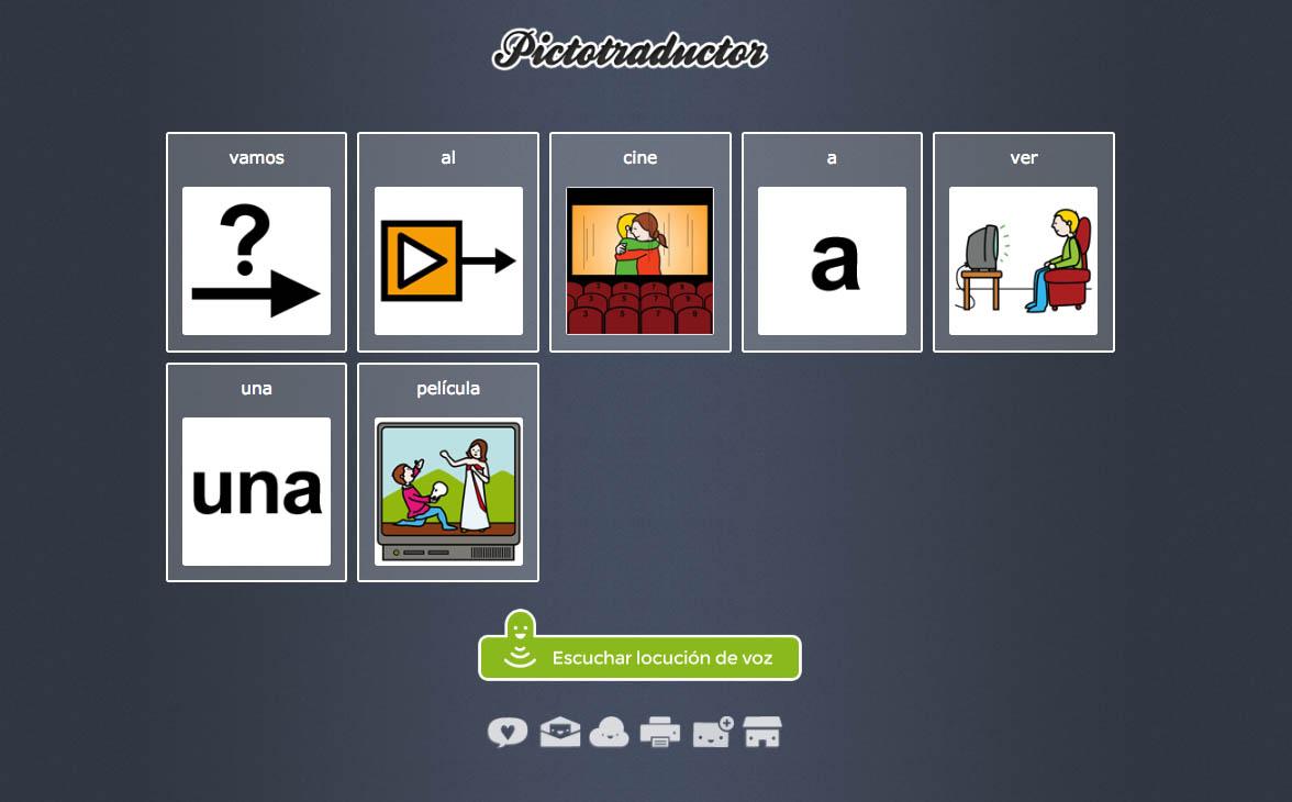 Pictotraductor Comunicación Sencilla Con Pictogramas